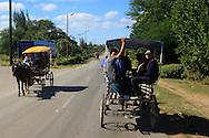 Coche de caballos in Puerto Padre, Las Tunas, Cuba.