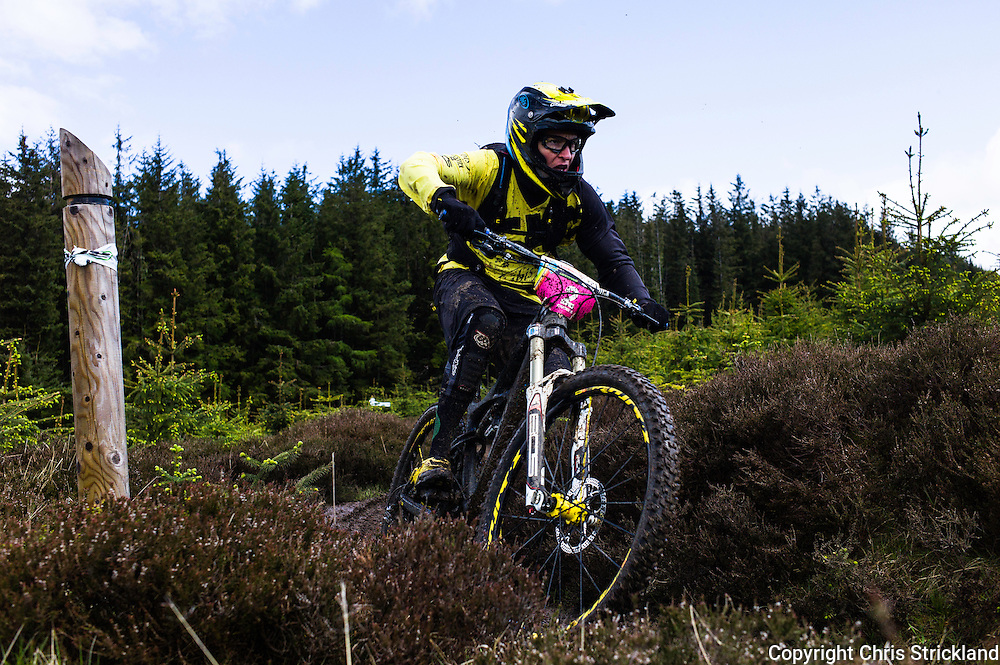 Glentress, Peebles, Scotland, UK. 31st May 2015. Anne Caroline Chausson finished second in the Enduro World Series Round 3 which took place on the iconic 7Stanes trails during Tweedlove Festival.