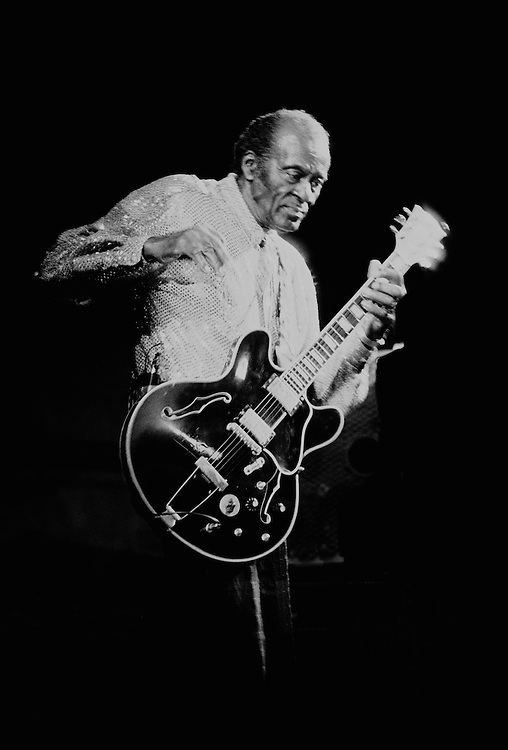 Chuck Berry performing live at the Town & Country club in Bradford, England in 2004
