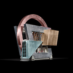 Architectural model of Cookie Expresse by Hodgetts + Fung Architect.  Photography by Tom Bonner job ID 5857