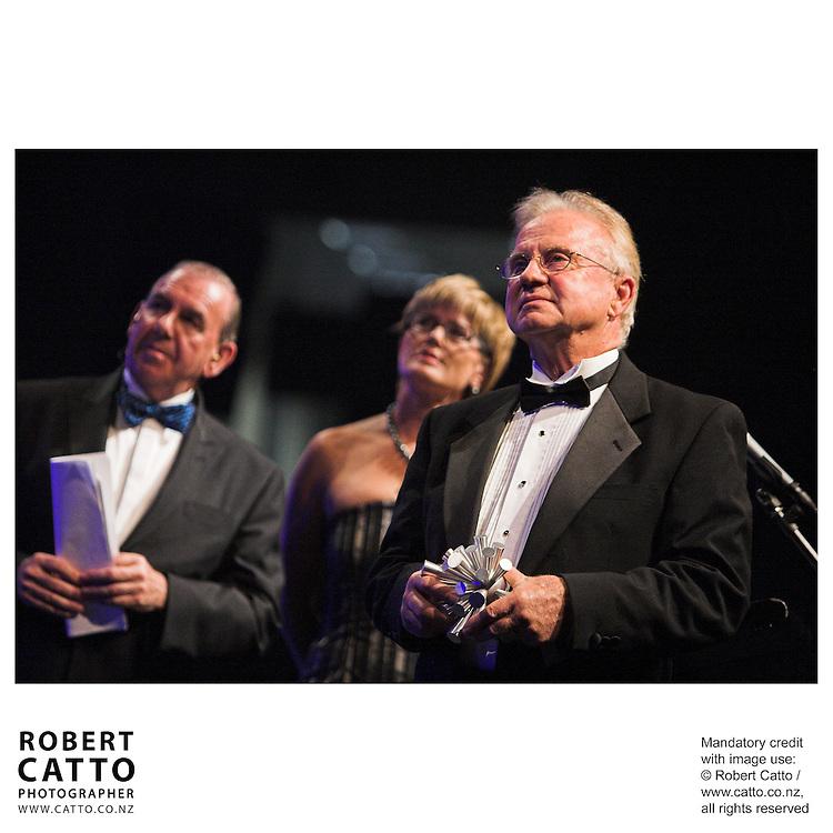 Ian Fraser;Kerry Prendergast;Dr. Alex Malahoff at the Wellington Region Gold Awards 07 at TSB Arena, Wellington, New Zealand.