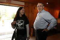 Eddie Adams Workshop Producer, Jessica Stuart, with Ed Fasano from Nikon.