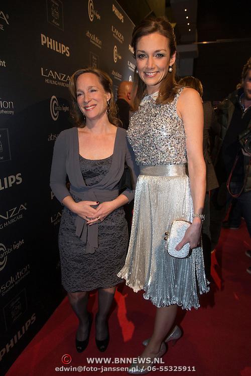 NLD/Amsterdam/20140311 - Modeshow Addy van den Krommenacker 2014, Prinses Aimee Söhngen, Prinses Margarita de Bourbon de Parme