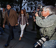 Legendary AP photographer Nick Ut covers R&B singer Chris Brown arrives at a Los Angeles Superior Court for a probation review hearing on Monday, Feburary. 3, 2014, in Los Angeles, California.  (Photo by Ringo Chiu/PHOTOFORMULA.com)