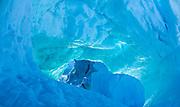 Inside and Iceberg at Harefjord, Greenland