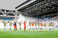 ARNHEM - Vitesse - FC Groningen , Voetbal , Eredivisie, Seizoen 2015/2016 , Gelredome , 03-10-2015 , Vitesse viert de overwinning