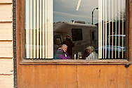 Forsyth, Montana, Speedway Cafe, Photographer self portrait