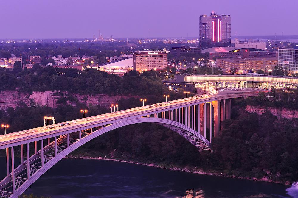 Bridge between Niagara USA and Canada,Niagara Falls, Ontario, Canada,