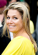 """THE HAGUE -  Queen Maxima attend the international conference """"Innovation in surveillance, monitoring and ACM (Autoriteit Consument & Markt)'' in The Hague.  COPYRIGHT ROBIN UTRECHT"""