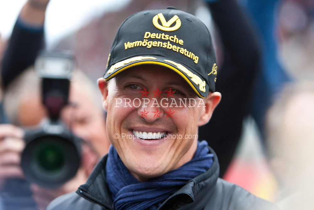 28.08.2011, Circuit de Spa, Francorchamps, BEL, F1, Grosser Preis von Belgien, Fahrer Präsentation im Bild Michael Schumacher (GER), Mercedes GP Petronas F1 Team // during driver presentation at Formula One Championships 2011 Belgian Grand Prix held at the Circuit de Spa, Francorchamps, Belgium, 28/8/2011, EXPA Pictures © 2011, PhotoCredit: EXPA/ J. Groder