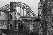 Bridge and House Demolishing, Newcastle, England, 1925