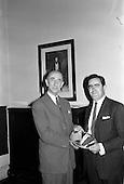 1962 - Presentation at Gilbey's Wine Merchants