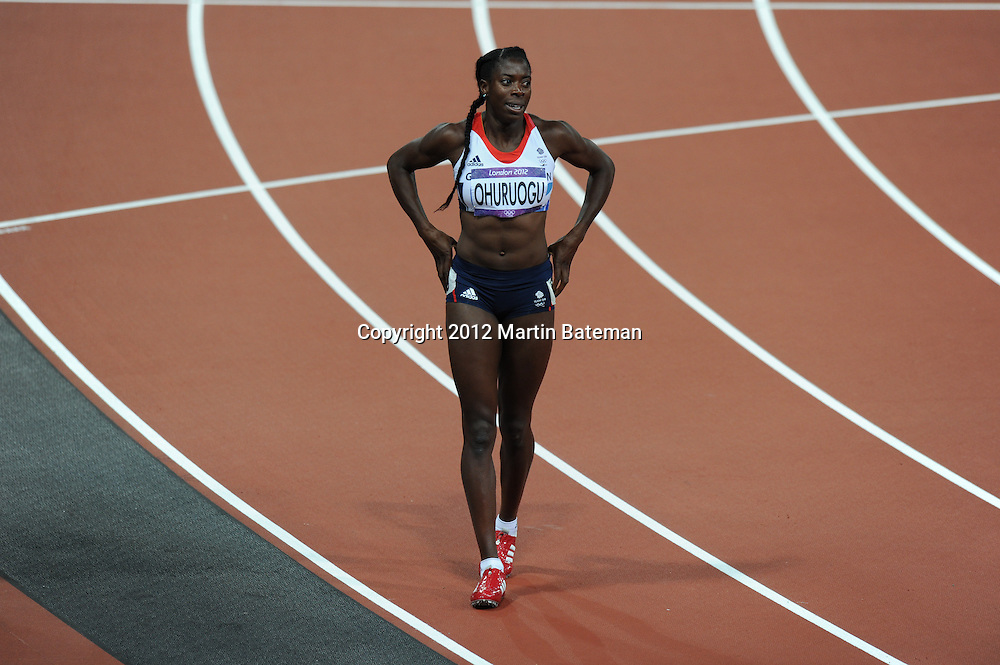 Christine Ohuruogu competes at London 2012