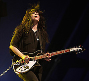 Alison Mosshart  of The Kills performs live on the NME Radio 1 Stage during day two of Reading Festival 2011 on August 27, 2011 in Reading, England.  (Photo by Simone Joyner)