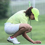 Haley Quickel of Middletown, DE, prepares to putt at the 11th hole during the girls 2015 Delaware junior championship at Chesapeake Bay Golf Club Thursday, July 03, 2015, in Rising Sun, Maryland.