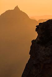 Vishnu Temple at sunrise. Grand Canyon National Park.