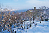 The Cloisters, New York City, New York, branch of the Metropolitan Museum of Art, Fort Tryon Park, Snow Winter