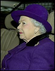 DEC 21 2014  The Queen attends church at   Sandringham