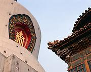 AA01219-01...CHINA - The White Dagoba at Beihai Park in Beijing.