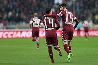 12.02.2017 - Torino - Serie A 2016/17 - 24a giornata  -  Torino-Pescara  nella  foto:  Iago Falque e Marco Benassi   -  Torino