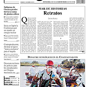 Back cover picture for La Jornada newspaper, january 2012.  Reuters