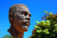 Maceo bust at the park in Bauta, Artemisa, Cuba.