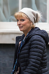 Downing Street, London, November 17th 2015. Small Business Minister Anna Soubry arrives at Downing Street for the weekly cabinet meeting.