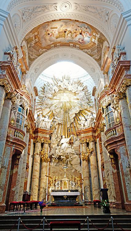 High resolution shot of Karlskirche in Vienna, Austria