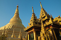 Shwedagon Pagoda officially titled Shwedagon Zedi Daw also known in English as the Great Dagon Pagoda and the Golden Pagoda, is a 99 metres or 325 ft gilded pagoda and stupa located in Yangon. The pagoda lies to the west of Kandawgyi Lake, on Singuttara Hill dominating the skyline of the city. It is the most sacred Buddhist pagoda for the Burmese with relics of eight strands of hair of Gautama, the historical Buddha.  Shwedagon Pagoda has existed for more than 2,500 years, making it the oldest historical pagoda in Burma and the world. According to tradition, two merchant brothers, Taphussa and Bhallika, from the land of Ramanya, met the Lord Gautama Buddha during his lifetime and received eight of the Buddha's hairs.