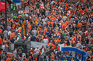 Fans fill the streets during opening day near Oriole Park at Camden Yards in Baltimore, Monday, April 4, 2016.  The Baltimore Orioles defeated the Minnesota Twins 3-2.
