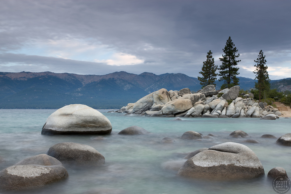 """Sand Harbor Morning""- This photograph was shot in the early morning at Sand Harbor, Lake Tahoe."
