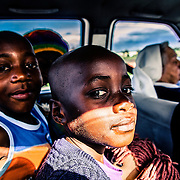 Gertrudes, 6 years old. she has 6 brothers. Her mother is extremely poor and can't take care of her so she is taking her to the FMA orphans center in Namaacha, at the border with Swaziland