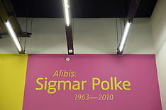 OCT 07 2014 Sigmar Polke 1963 - 2010 exhibition at the Tate Modern