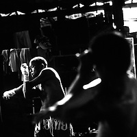 USE ARROWS &larr; &rarr; on your keyboard to navigate this slide-show<br /> <br /> Yangon, Myanmar May 2006<br /> Boxing fighters of the KLN boxing school. Most of them are part of the Karen minority ethnic group.<br /> On this picture: Boxer Saw Zaw Lwin, 34 years old.<br /> Photo: Ezequiel Scagnetti