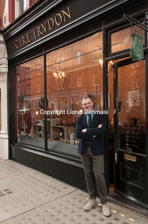 Laurent Delafon creator / owner of Cire Trudon specialised in quality candles and wax products.