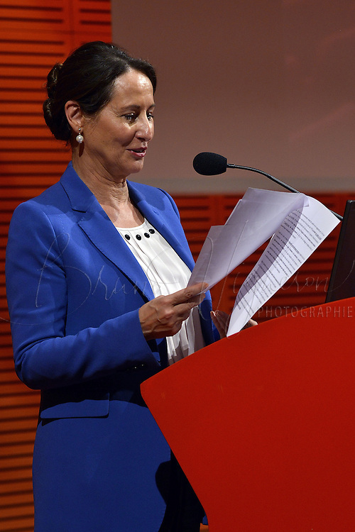 LYON, FRANCE - OCTOBER 15: French Minister of Ecology Segolene Royal attends the 7th National Meetings on Sounding Environment Quality on October 15, 2014 in Lyon, France. (Photo by Bruno Vigneron/Getty Images)