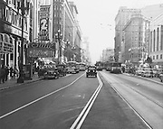 Outdoor Shot Looking West on Market Street From 4th Street | July 4, 1949