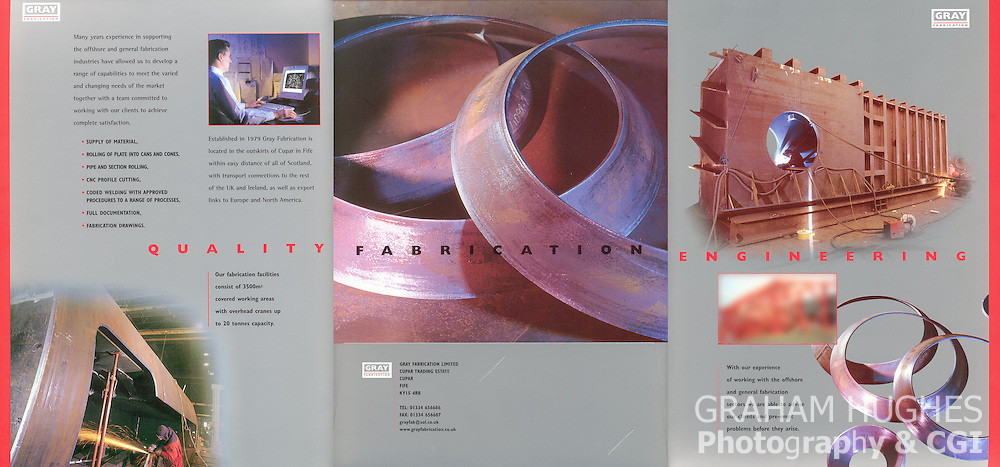 Gray Fabrication Brochure. Printed & Designed By West Port Print & Design, St. Andrews. All Rights Reserved