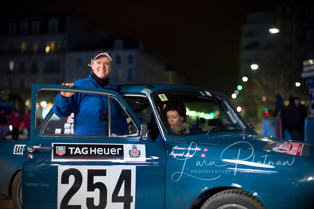 Renee Nordie and Ingrid Moe:  The 14th Rallye Monte Carlo Historique. Celebrating 100 years of the Rally. 1911-2011. Cars start from either Glasgow,Marakesh, Warsaw, Reims, Barcelona or Paris. Rallye Monte Carlo Historic,