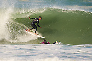 WELLINGTON, NEW ZEALAND - March 03: Surfing at the Wall, Lyall Bay March 03, 2016 in Wellington, New Zealand. (Photo by Mark Tantrum/ http://marktantrum.com)