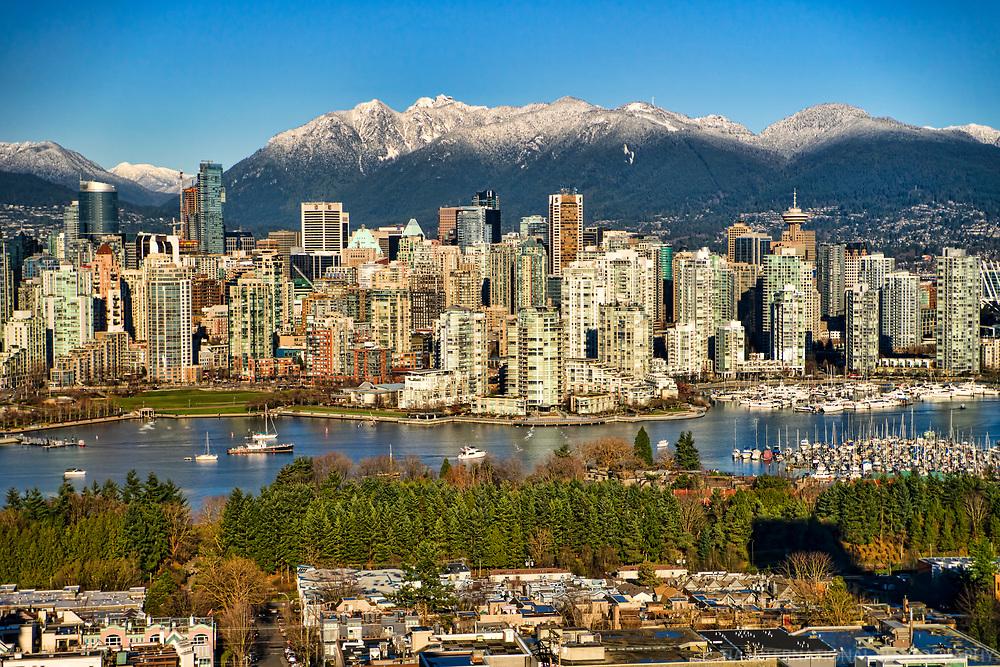 Charleson Park & Vancouver Skyline