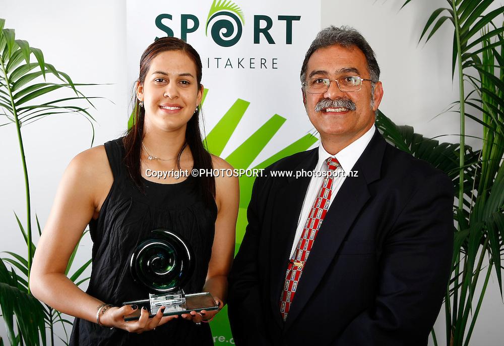 Pacific Island Achievement in Sport Award winner Paual Griffin. The Unitec Waitakere Sporting Excellence Awards & Dinner 2008. Trusts Stadium, Waitakere, Auckland, New Zealand.14 November 2008. Photo: Simon Watts/PHOTOSPORT