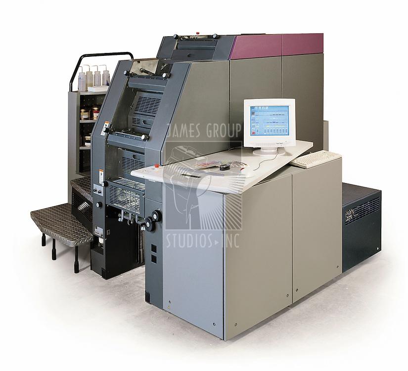 Digital printing press on white
