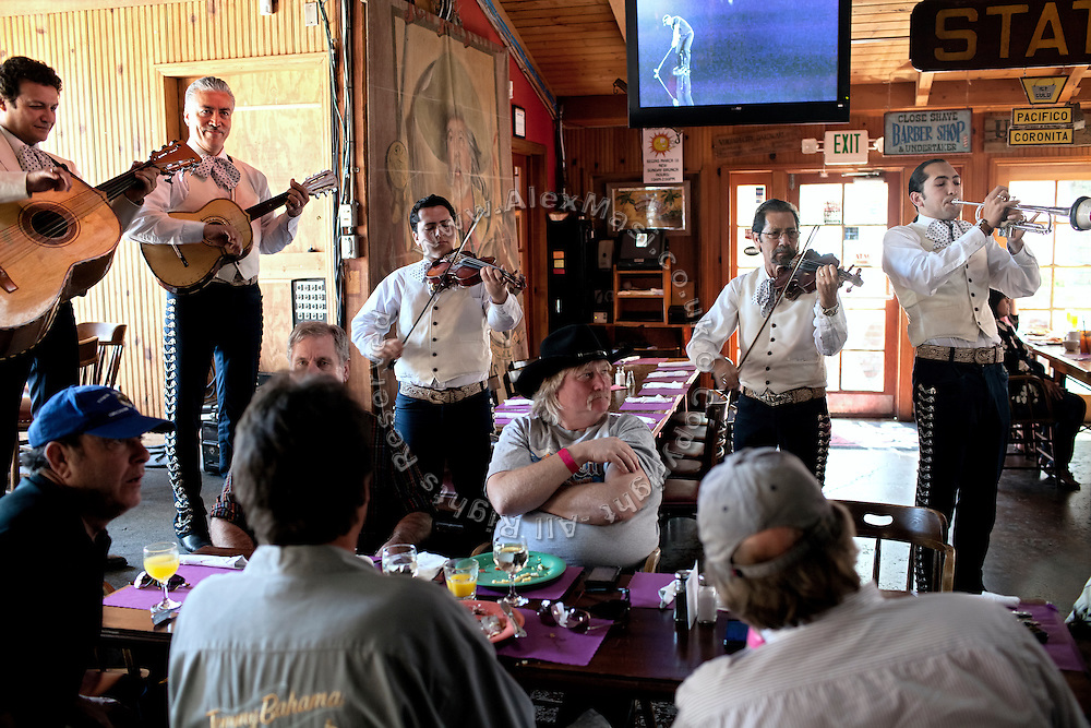 During a busy Sunday lunch, a band is playing inside the Sagebrush Cantina, 23527 Calabasas Rd, Calabasas, CA 91302, USA, where Alexis Neisers, a member of the Bling Ring, used to work as a waitress.