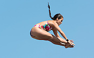 VALENTE Jacqueline BRA<br /> FINA High Diving World Cup 2014<br /> Kazan Tatartsan Russsia RUS Aug. 8 to 10 2014<br /> Kazanka River  Day00 - Aug.7 <br /> Photo G. Scala/Deepbluemedia