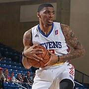 Delaware 87ers Guard DEVONDRICK WALKER (2) pulls down a rebound in the first half of an NBA D-league regular season game between the Delaware 87ers and the Greensboro Swarm (Charlotte Hornets) Wednesday, March 29, 2017, at The Bob Carpenter Sports Convocation Center in Newark, DEL