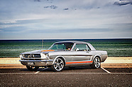 1965 Ford Mustang Silver Orange Coupe