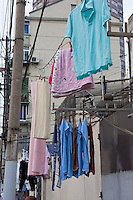 clothes drying outside homes in Shanghai China