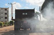 Smoking truck in Baragua, Ciego de Avila Province, Cuba.