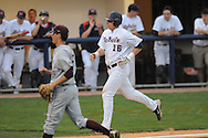 Mississippi's Matt Smith scores vs. Arkansas-Little Rock at Oxford-University Stadium in Oxford, Miss. on Wednesday, April 7, 2010. Arkansas-Little Rock won 9-6.